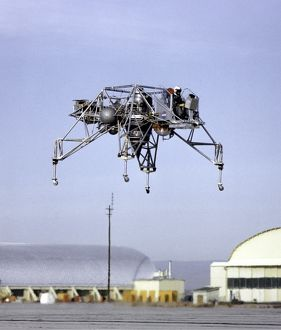 Lunar Landing Research Vehicle in Flight